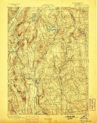 New Milford Connecticut Historical topographic map, 1:62500 scale, 15 X 15 Minute, Year 1893