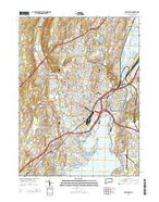 New Haven Connecticut Current topographic map, 1:24000 scale, 7.5 X 7.5 Minute, Year 2015 from Connecticut Map Store