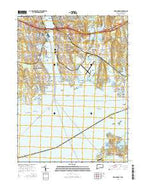 New London Connecticut Current topographic map, 1:24000 scale, 7.5 X 7.5 Minute, Year 2015 from Connecticut Map Store