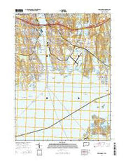 New London Connecticut Current topographic map, 1:24000 scale, 7.5 X 7.5 Minute, Year 2015 from Connecticut Maps Store