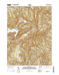 New Preston Connecticut Current topographic map, 1:24000 scale, 7.5 X 7.5 Minute, Year 2015