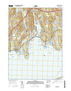 Niantic Connecticut Current topographic map, 1:24000 scale, 7.5 X 7.5 Minute, Year 2015 from Connecticut Map Store
