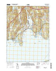 Niantic Connecticut Current topographic map, 1:24000 scale, 7.5 X 7.5 Minute, Year 2015