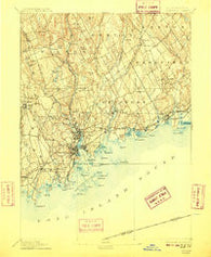 Norwalk Connecticut Historical topographic map, 1:62500 scale, 15 X 15 Minute, Year 1893