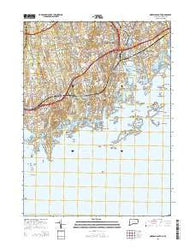 Norwalk South Connecticut Current topographic map, 1:24000 scale, 7.5 X 7.5 Minute, Year 2015