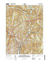 Norwich Connecticut Current topographic map, 1:24000 scale, 7.5 X 7.5 Minute, Year 2015