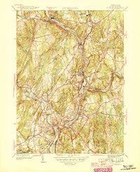 Norwich Connecticut Historical topographic map, 1:31680 scale, 7.5 X 7.5 Minute, Year 1946