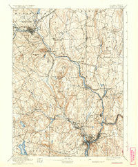 Norwich Connecticut Historical topographic map, 1:62500 scale, 15 X 15 Minute, Year 1892