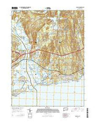 Old Lyme Connecticut Current topographic map, 1:24000 scale, 7.5 X 7.5 Minute, Year 2015