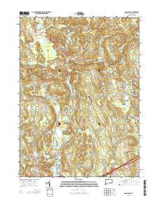 Old Mystic Connecticut Current topographic map, 1:24000 scale, 7.5 X 7.5 Minute, Year 2015