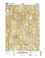 Oneco Connecticut Current topographic map, 1:24000 scale, 7.5 X 7.5 Minute, Year 2015 from Connecticut Map Store