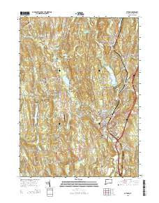Putnam Connecticut Current topographic map, 1:24000 scale, 7.5 X 7.5 Minute, Year 2015