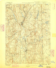 Putnam Connecticut Historical topographic map, 1:62500 scale, 15 X 15 Minute, Year 1889