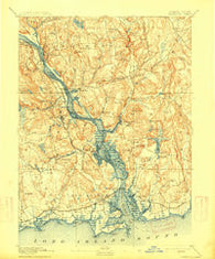 Saybrook Connecticut Historical topographic map, 1:62500 scale, 15 X 15 Minute, Year 1893