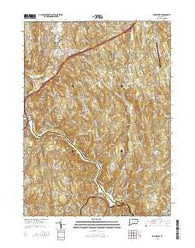 Southbury Connecticut Current topographic map, 1:24000 scale, 7.5 X 7.5 Minute, Year 2015