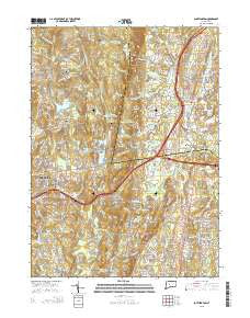 Southington Connecticut Current topographic map, 1:24000 scale, 7.5 X 7.5 Minute, Year 2015