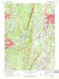 Southington Connecticut Historical topographic map, 1:24000 scale, 7.5 X 7.5 Minute, Year 1968