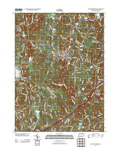 Stafford Springs Connecticut Historical topographic map, 1:24000 scale, 7.5 X 7.5 Minute, Year 2012
