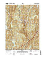 Stafford Springs Connecticut Current topographic map, 1:24000 scale, 7.5 X 7.5 Minute, Year 2015 from Connecticut Map Store