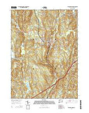Stafford Springs Connecticut Current topographic map, 1:24000 scale, 7.5 X 7.5 Minute, Year 2015 from Connecticut Maps Store