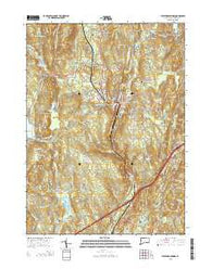 Stafford Springs Connecticut Current topographic map, 1:24000 scale, 7.5 X 7.5 Minute, Year 2015