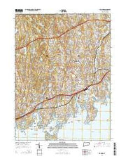 Stamford Connecticut Current topographic map, 1:24000 scale, 7.5 X 7.5 Minute, Year 2015 from Connecticut Maps Store