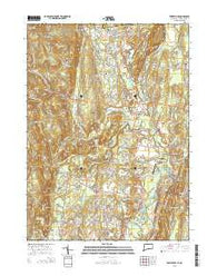 Tariffville Connecticut Current topographic map, 1:24000 scale, 7.5 X 7.5 Minute, Year 2015