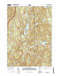 Thompson Connecticut Current topographic map, 1:24000 scale, 7.5 X 7.5 Minute, Year 2015