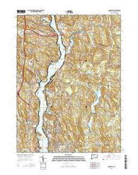 Uncasville Connecticut Current topographic map, 1:24000 scale, 7.5 X 7.5 Minute, Year 2015