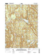 Voluntown Connecticut Current topographic map, 1:24000 scale, 7.5 X 7.5 Minute, Year 2015 from Connecticut Map Store