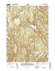 Voluntown Connecticut Current topographic map, 1:24000 scale, 7.5 X 7.5 Minute, Year 2015