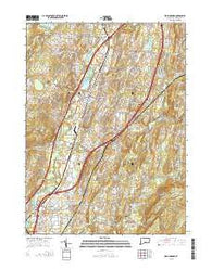 Wallingford Connecticut Current topographic map, 1:24000 scale, 7.5 X 7.5 Minute, Year 2015