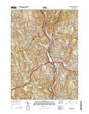 Waterbury Connecticut Current topographic map, 1:24000 scale, 7.5 X 7.5 Minute, Year 2015 from Connecticut Maps Store