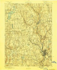 Waterbury Connecticut Historical topographic map, 1:62500 scale, 15 X 15 Minute, Year 1893
