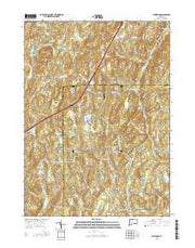 Westford Connecticut Current topographic map, 1:24000 scale, 7.5 X 7.5 Minute, Year 2015 from Connecticut Maps Store
