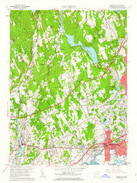 Westport Connecticut Historical topographic map, 1:24000 scale, 7.5 X 7.5 Minute, Year 1960