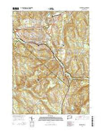 Willimantic Connecticut Current topographic map, 1:24000 scale, 7.5 X 7.5 Minute, Year 2015 from Connecticut Map Store