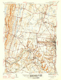 Windsor Locks Connecticut Historical topographic map, 1:31680 scale, 7.5 X 7.5 Minute, Year 1946