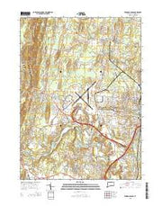 Windsor Locks Connecticut Current topographic map, 1:24000 scale, 7.5 X 7.5 Minute, Year 2015 from Connecticut Maps Store