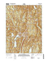 Winsted Connecticut Current topographic map, 1:24000 scale, 7.5 X 7.5 Minute, Year 2015