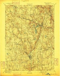 Winsted Connecticut Historical topographic map, 1:62500 scale, 15 X 15 Minute, Year 1892