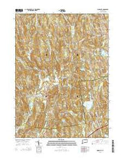 Woodbury Connecticut Current topographic map, 1:24000 scale, 7.5 X 7.5 Minute, Year 2015 from Connecticut Maps Store