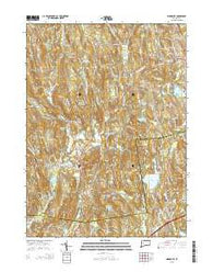 Woodbury Connecticut Current topographic map, 1:24000 scale, 7.5 X 7.5 Minute, Year 2015