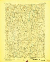 Woodstock Connecticut Historical topographic map, 1:62500 scale, 15 X 15 Minute, Year 1892