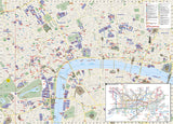 London, United Kingdom DestinationMap by National Geographic Maps - Back of map