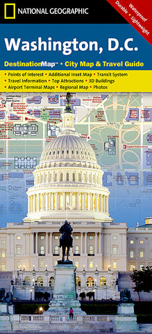 Buy map Washington DC DestinationMap by National Geographic