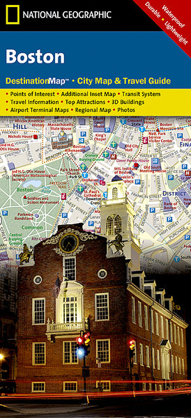 Buy map Boston, Massachusetts DestinationMap by National Geographic Maps