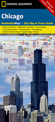 Buy map Chicago, Illinois DestinationMap by National Geographic Maps