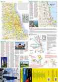 Chicago, Illinois DestinationMap by National Geographic Maps - Front of map
