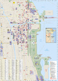 Chicago, Illinois DestinationMap by National Geographic Maps - Back of map
